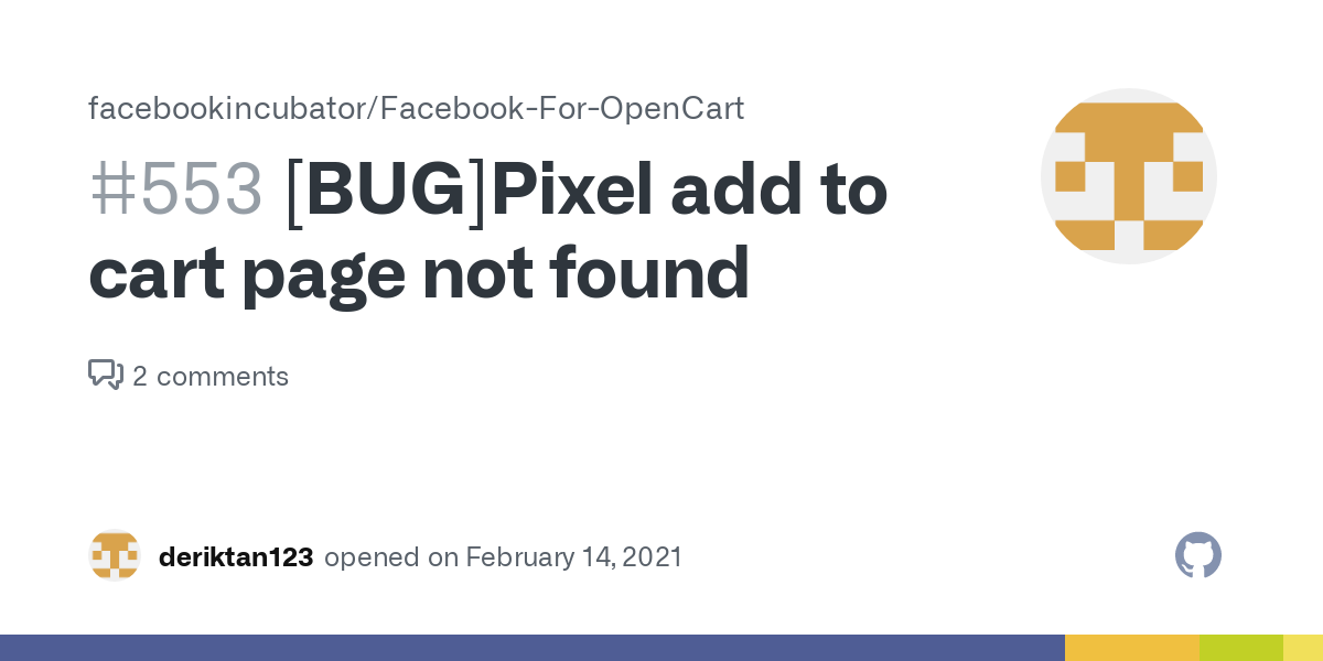 bug]pixel add to cart page not found · issue #553 ·  facebookincubator/facebook-for-opencart · github  github