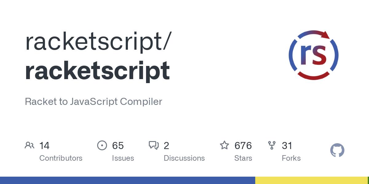 RacketScript is an experimental lightweight Racket to JavaScript (ECMAScript 6) compiler. RacketScript aims to leverage both JavaScript and Racket's e