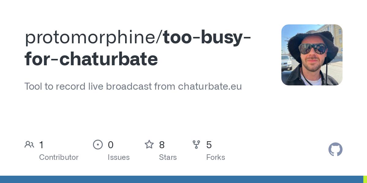 Recorder chaturbate GitHub