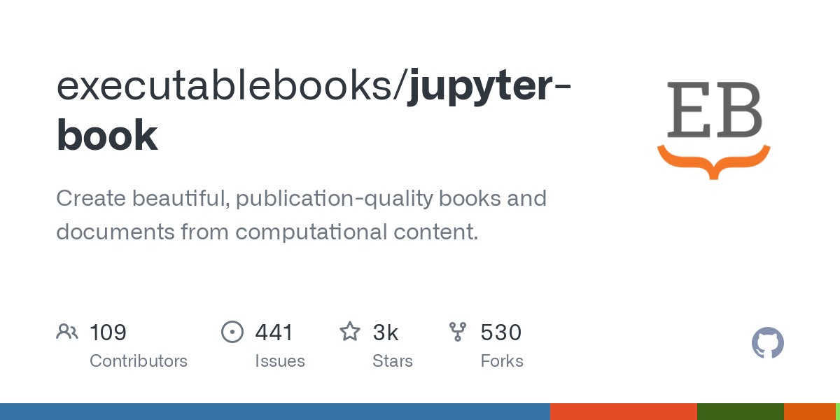 GitHub - executablebooks/jupyter-book: Create beautiful, publication-quality books and documents from computational content.