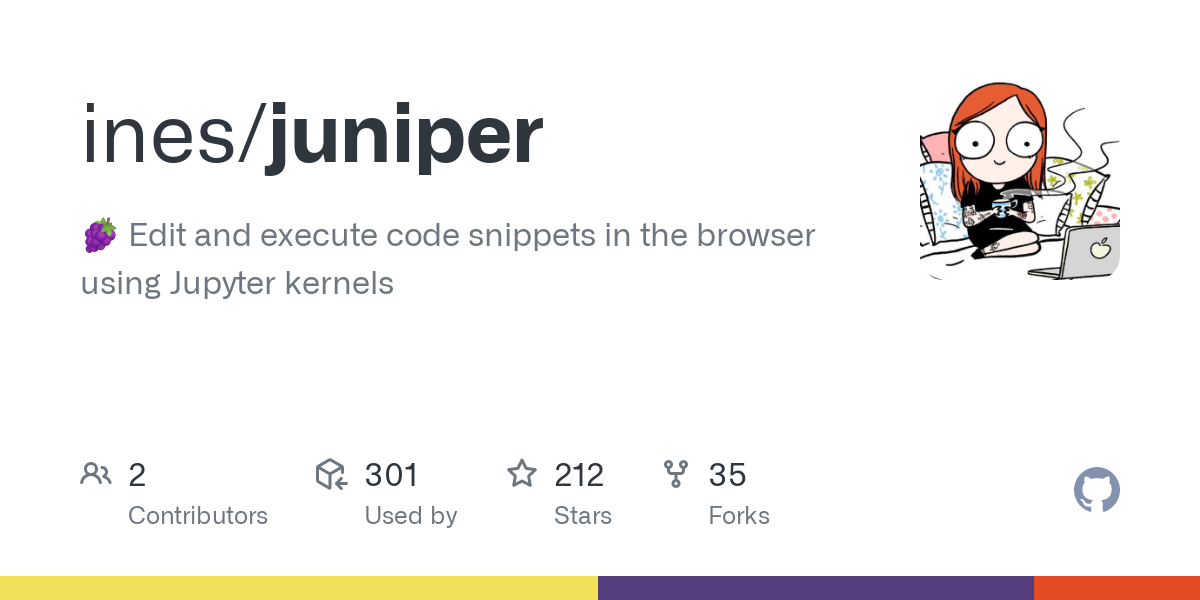 GitHub - ines/juniper: 🍇 Edit and execute code snippets in the browser using Jupyter kernels