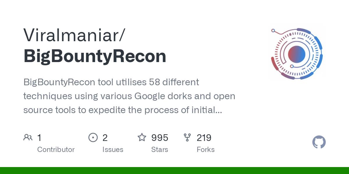 BigBountyRecon   This Tool Utilises 58 Different Techniques