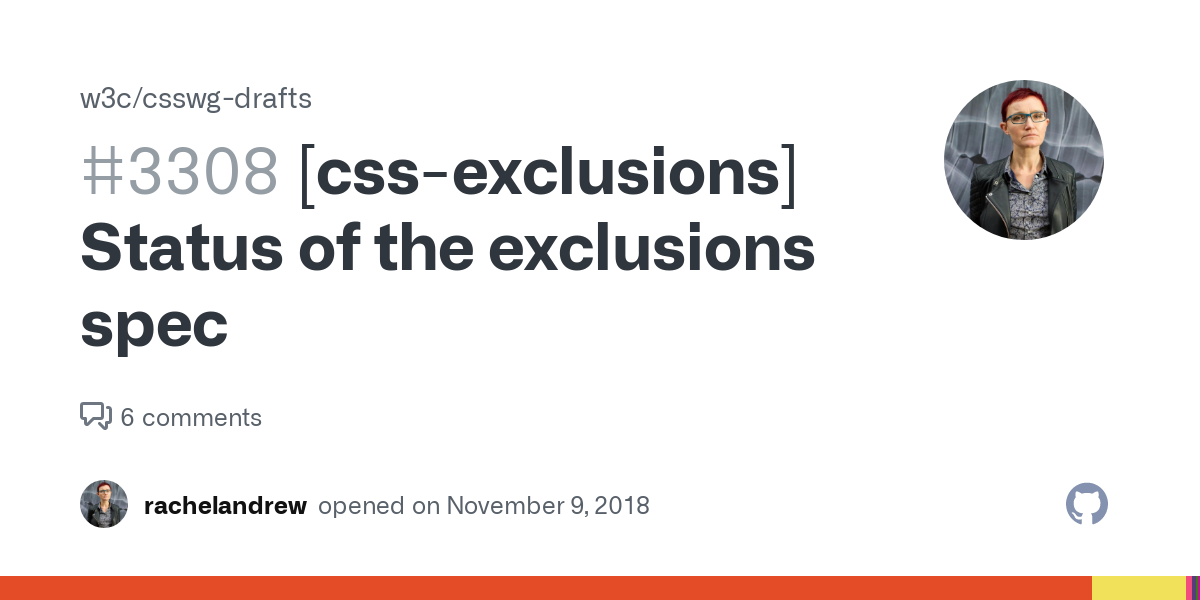[css-exclusions] Status of the exclusions spec #3308