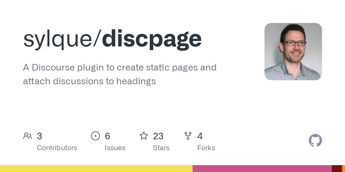 GitHub - sylque/discpage: A Discourse plugin to create static pages and attach discussions to headings