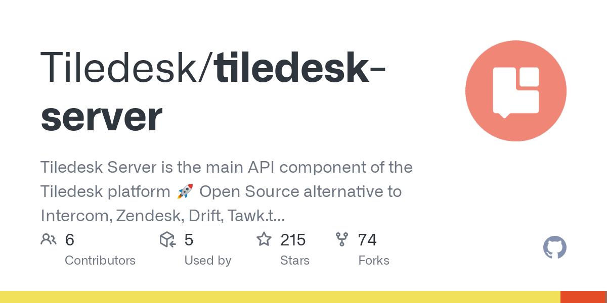 GitHub - Tiledesk/tiledesk-server: Tiledesk server