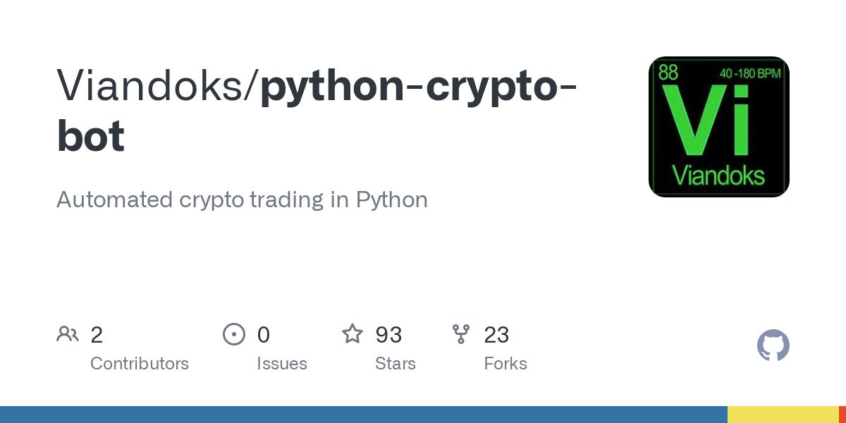 bitcoin kereskedési bot nyílt forráskódú python