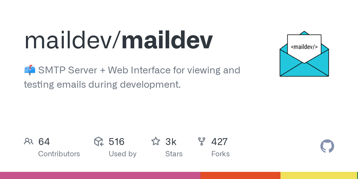 GitHub - maildev/maildev: SMTP Server + Web Interface for viewing and testing emails during development.