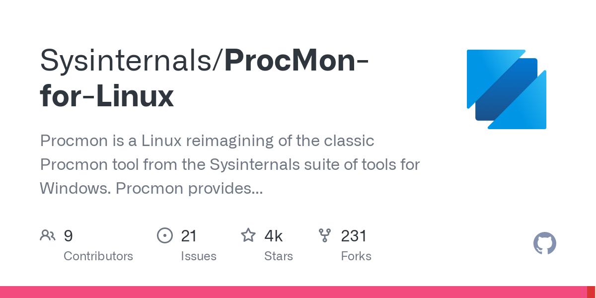 Sysinternals/ProcMon-for-Linux