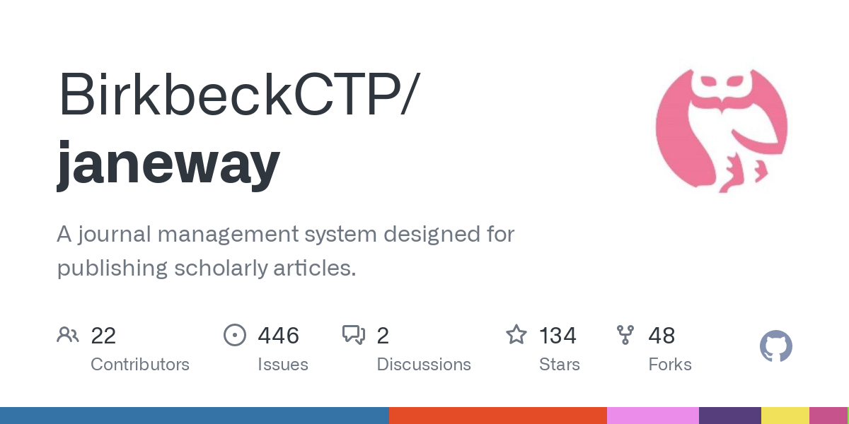 GitHub - BirkbeckCTP/janeway: A journal management system designed for publishing scholarly articles.