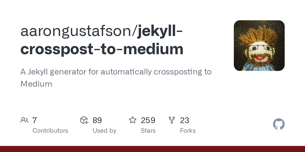 A Jekyll generator for automatically crossposting to Medium