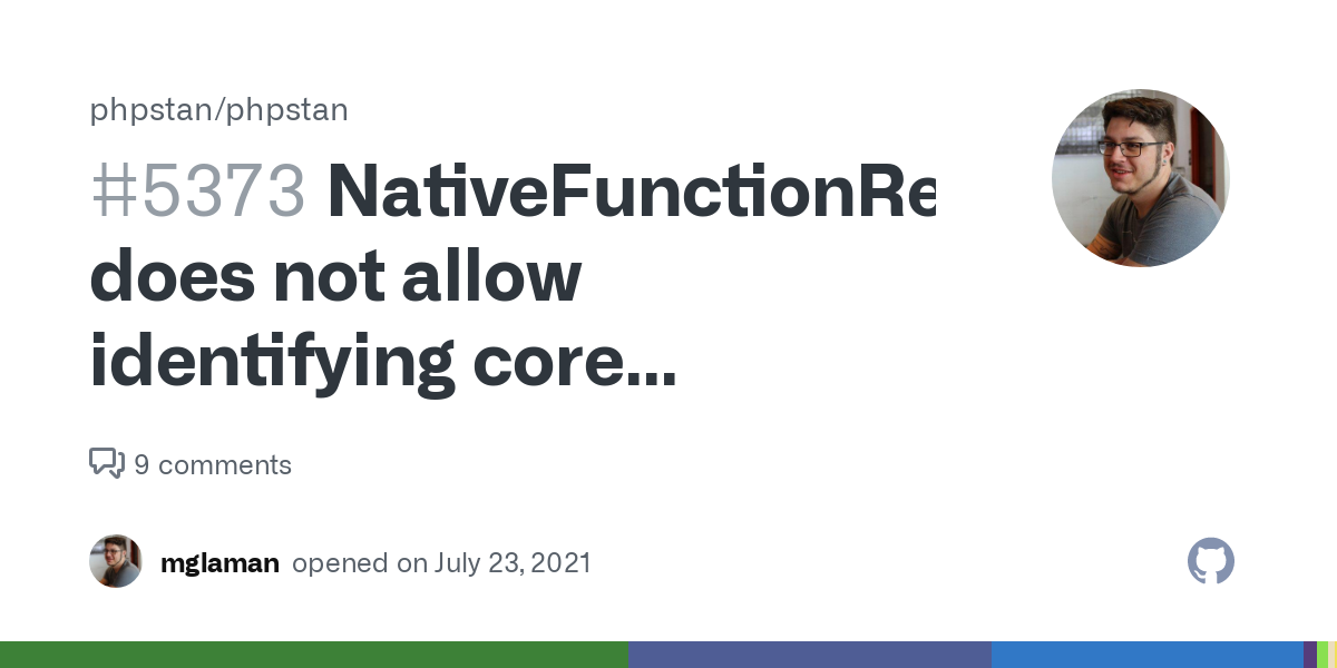 NativeFunctionReflection does not allow identifying core functions as being deprecated · Issue #5373 · phpstan/phpstan