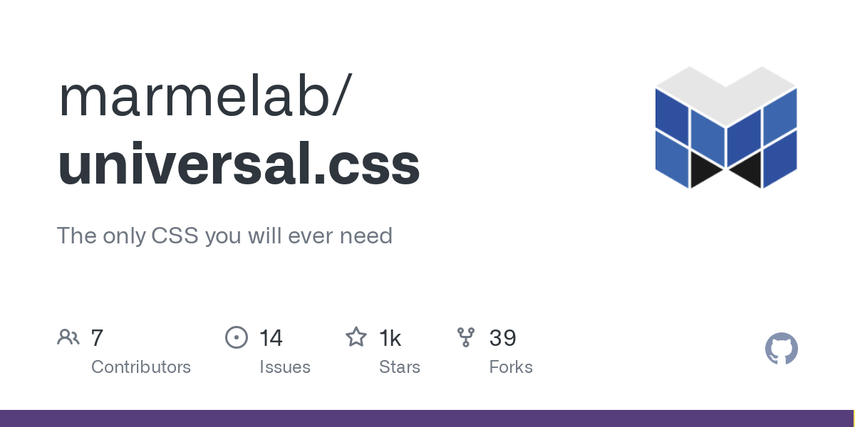 marmelab/universal.css: The only CSS you will ever need