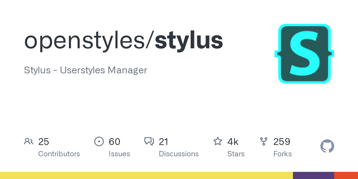 GitHub - openstyles/stylus: Stylus - Userstyles Manager