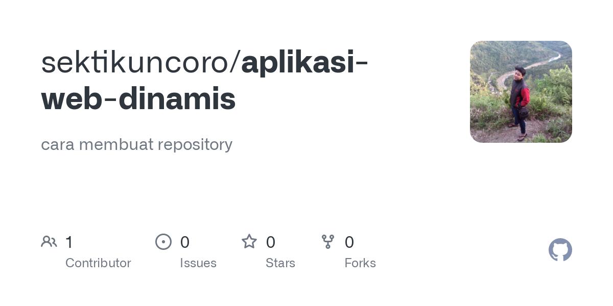 Github Sektikuncoro Aplikasi Web Dinamis Cara Membuat Repository
