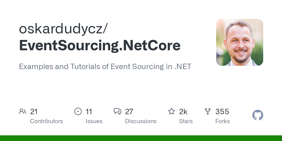 GitHub - oskardudycz/EventSourcing.NetCore: Examples and Tutorials of Event Sourcing in .NET