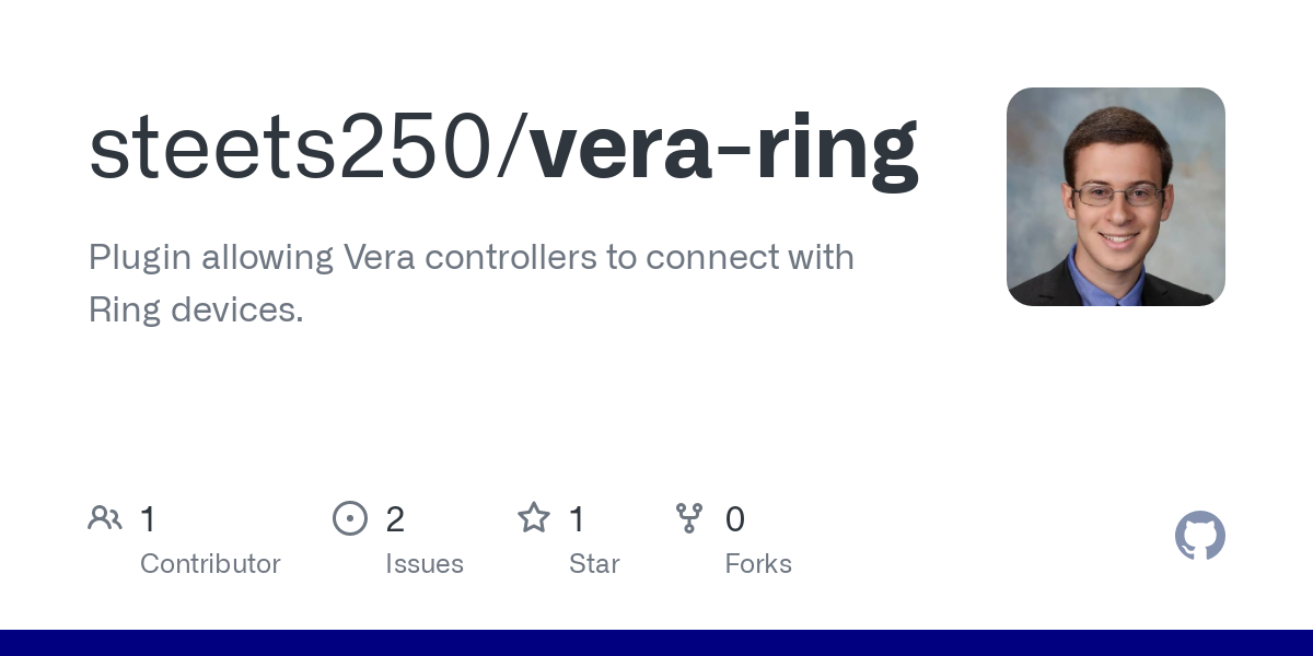 GitHub - steets250/vera-ring: Plugin allowing Vera controllers to connect with Ring devices.