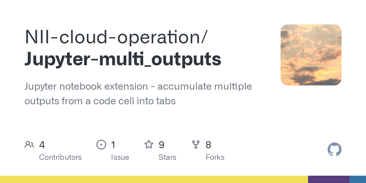 GitHub - NII-cloud-operation/Jupyter-multi_outputs: Jupyter notebook extension - accumulate multiple outputs from a code cell into tabs