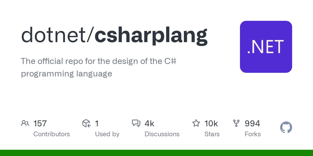 dotnet/csharplang