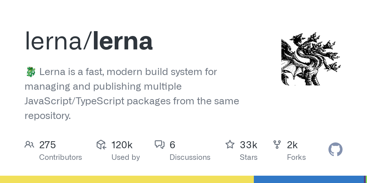 GitHub - lerna/lerna: A tool for managing JavaScript projects with multiple packages.