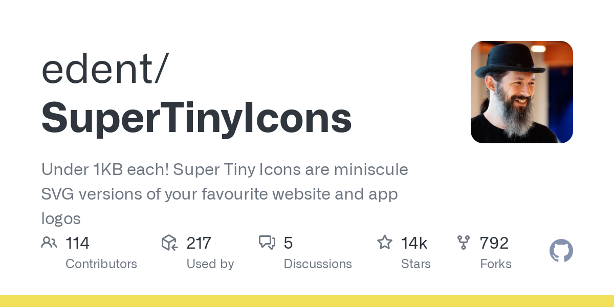 edent/SuperTinyIcons: Under 1KB each! Super Tiny Icons are miniscule SVG versions of your favourite website and app logos