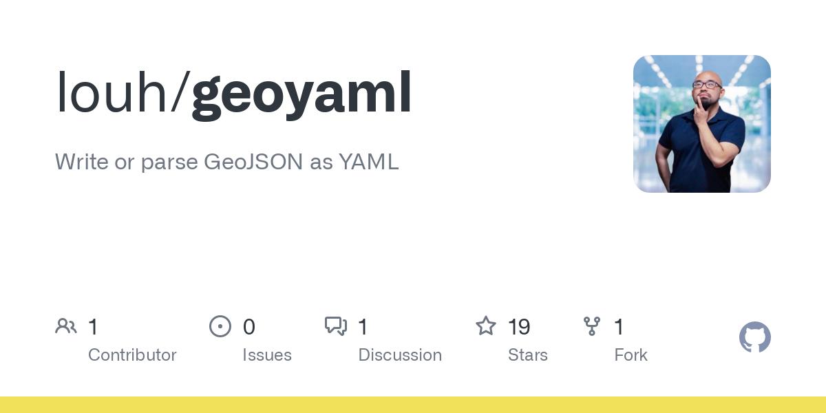 Write or parse GeoJSON as YAML