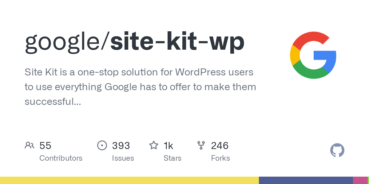 GitHub - google/site-kit-wp: Site Kit is a one-stop solution for WordPress users to use everything Google has to offer to make them successful on the web.