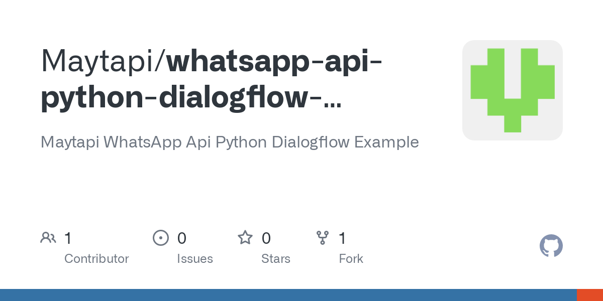 Github Maytapi Whatsapp Api Python Dialogflow Example Maytapi Whatsapp Api Python Dialogflow Example