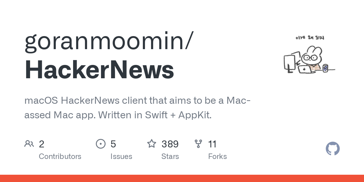 I couldn't find a HackerNews client that runs on macOS, built with native technologies (AppKit), and has all of the features I was interested in: up/d