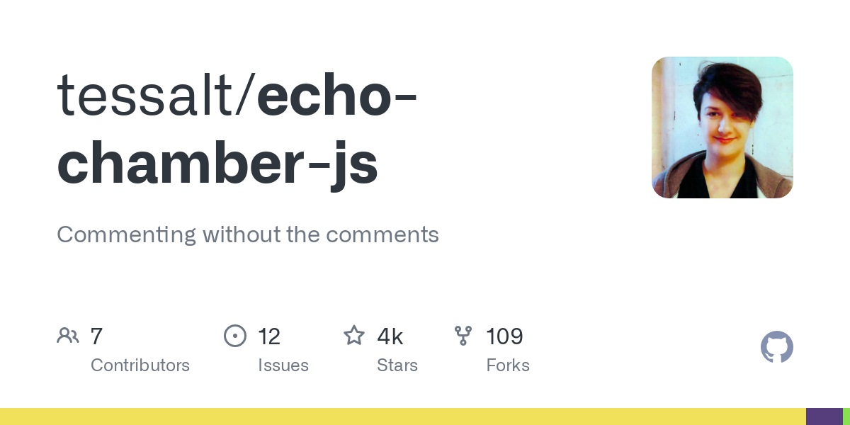 GitHub - tessalt/echo-chamber-js: Commenting without the comments