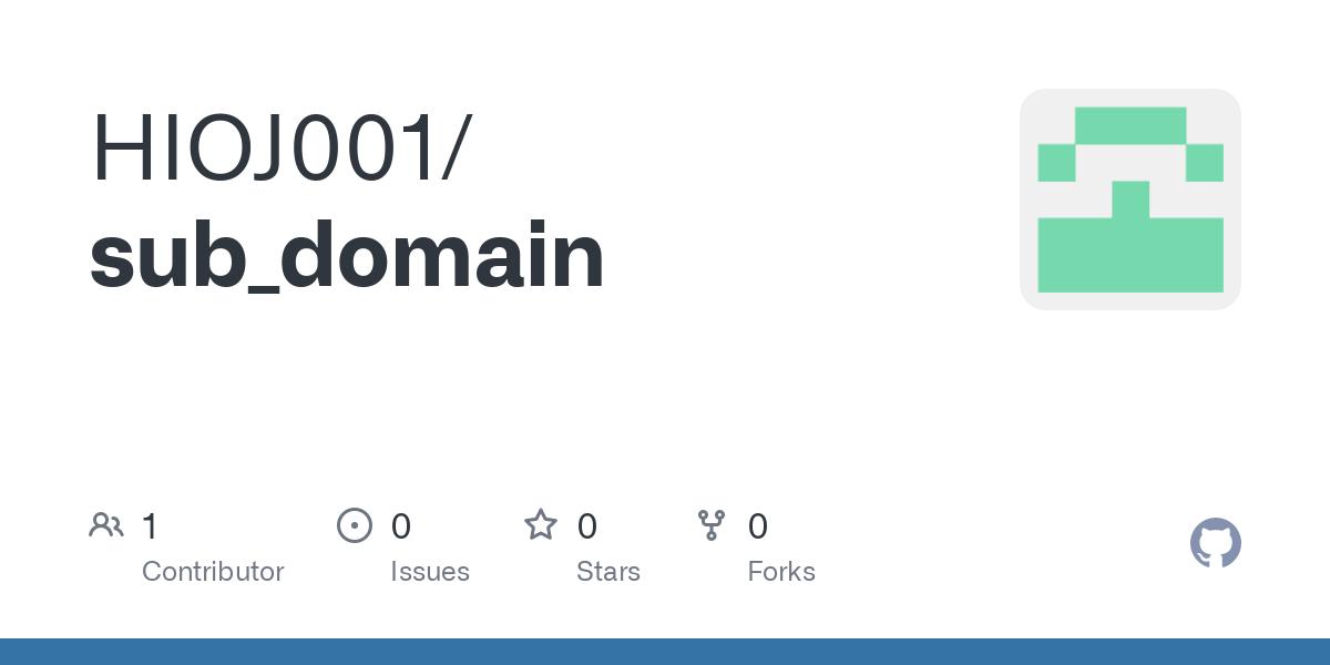 sub domain subs esd at master hioj001
