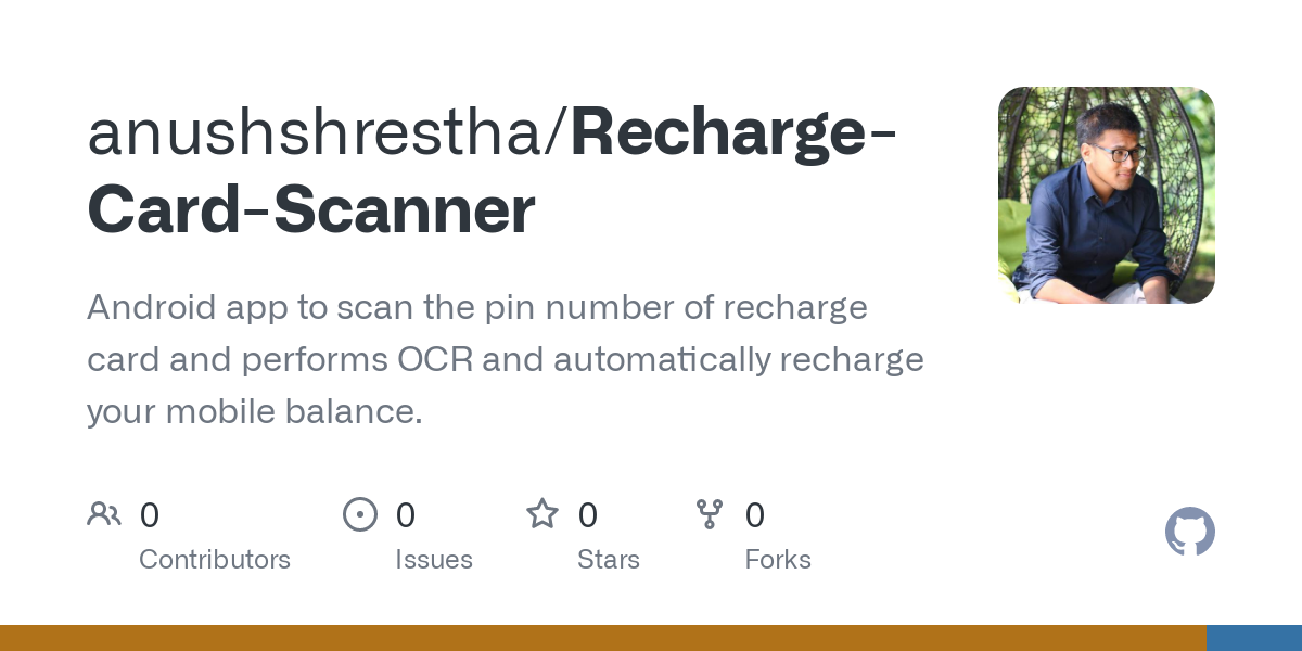 Github Anushshrestha Recharge Card Scanner Android App To Scan The Pin Number Of Recharge Card And Performs Ocr And Automatically Recharge Your Mobile Balance