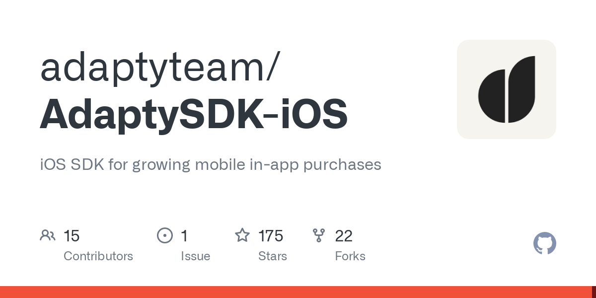 GitHub - adaptyteam/AdaptySDK-iOS: iOS SDK for growing mobile in-app purchases
