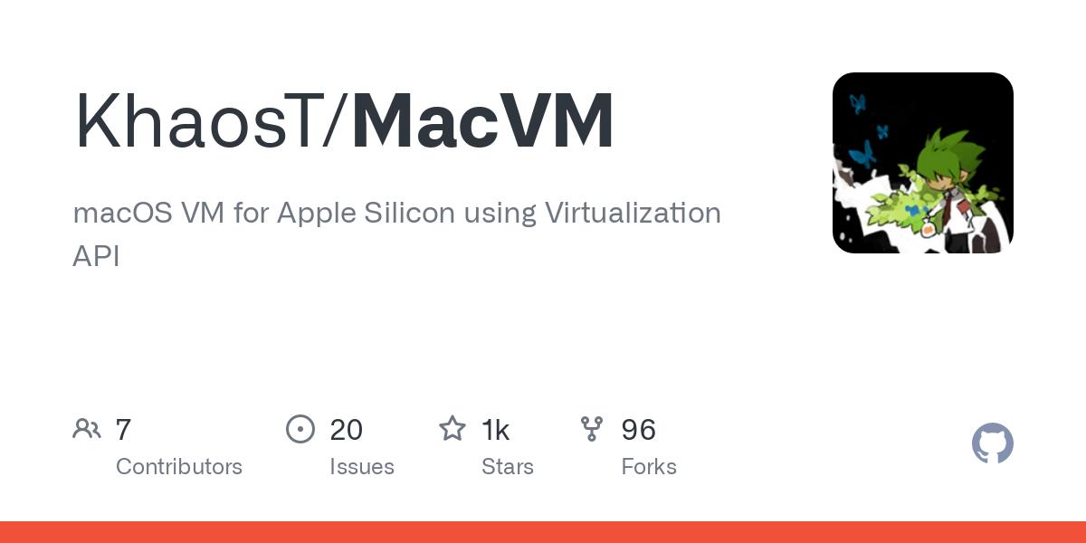 GitHub - KhaosT/MacVM: macOS VM for Apple Silicon using Virtualization API