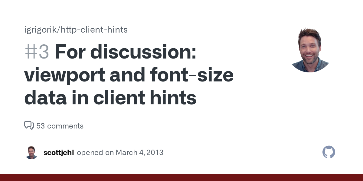 For discussion: viewport and font-size data in client hints