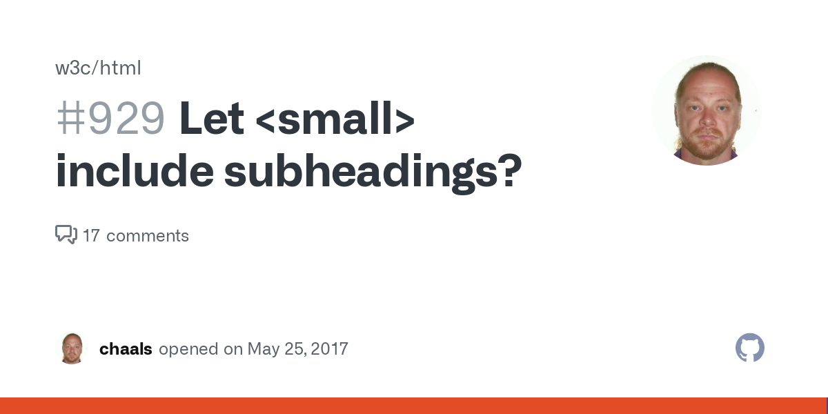 Let small include subheadings? · Issue #929 · w3c/html