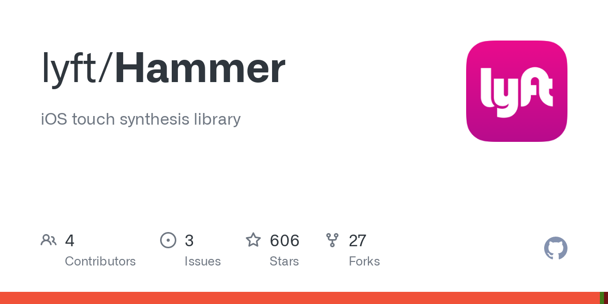 GitHub - lyft/Hammer: iOS touch synthesis library