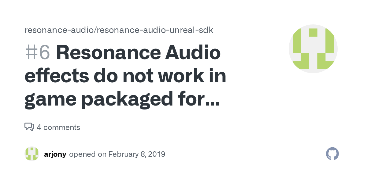 Does Resanance Work In Fortnite Resonance Audio Effects Do Not Work In Game Packaged For Windows Issue 6 Resonance Audio Resonance Audio Unreal Sdk Github