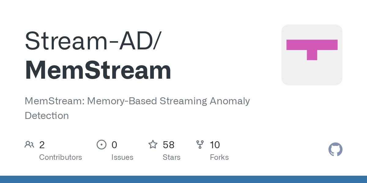 MemStream detects anomalies from a multi-aspect data stream. We output an anomaly score for each record. MemStream is a memory augmented feature extra