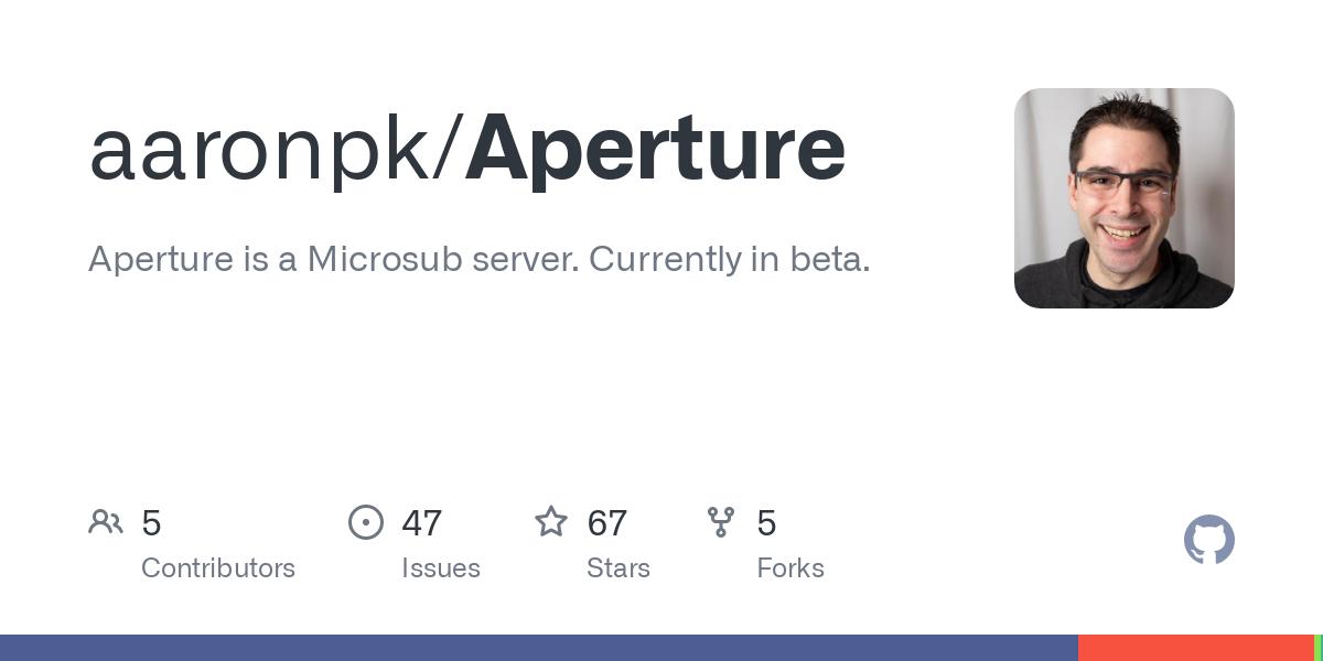 GitHub - aaronpk/Aperture: Aperture is a Microsub server. Currently in beta.