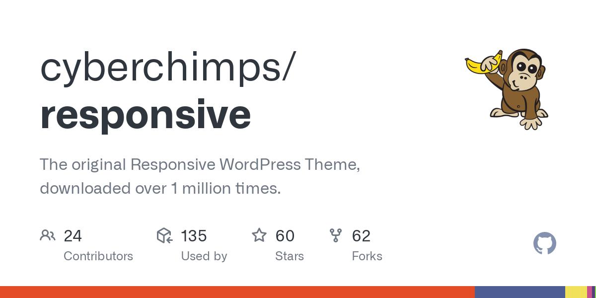 GitHub - cyberchimps/responsive: The original Responsive WordPress Theme,  downloaded over 1 million times.