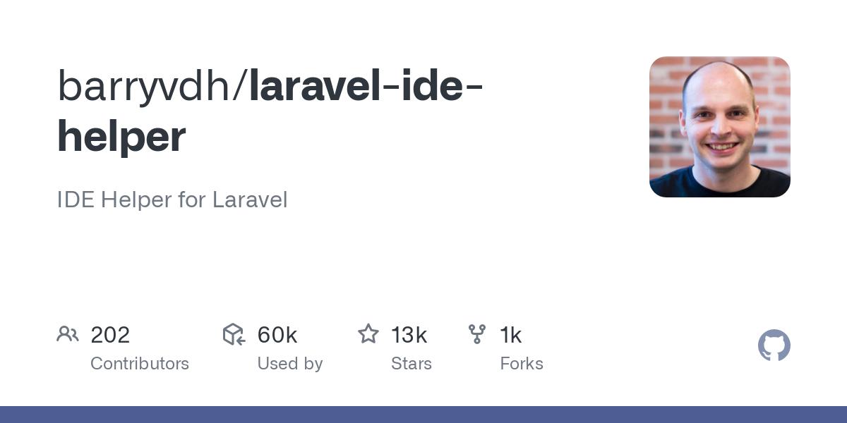 barryvdh/laravel-ide-helper: Laravel IDE Helper