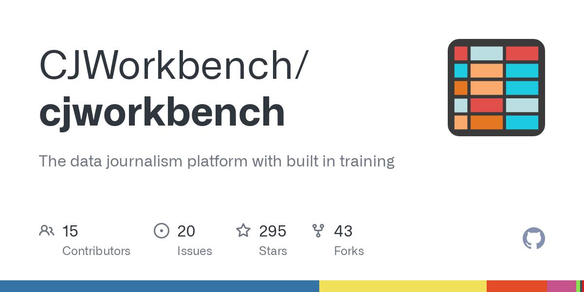 GitHub - CJWorkbench/cjworkbench: The data journalism platform with built in training