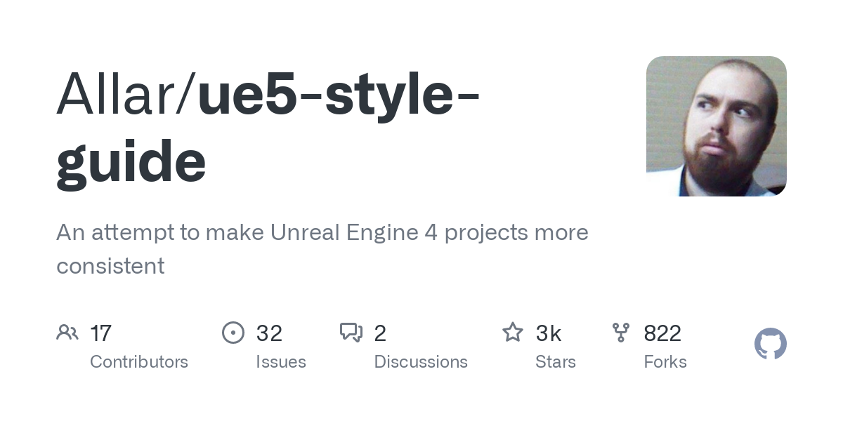 GitHub - Allar/ue5-style-guide: An attempt to make Unreal Engine 4 projects more consistent