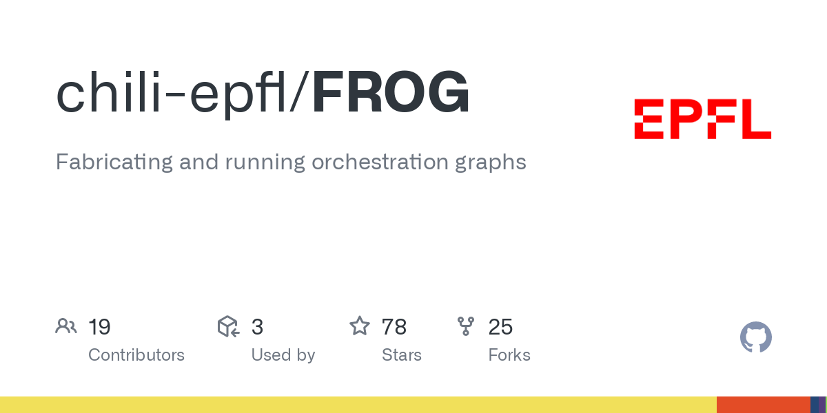 GitHub - chili-epfl/FROG: Fabricating and running orchestration graphs