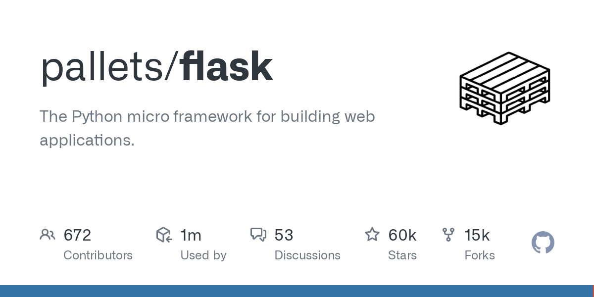 GitHub - pallets/flask: The Python micro framework for building web applications.-image