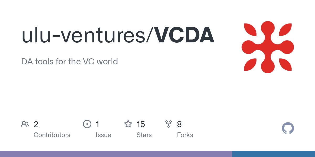 GitHub - ulu-ventures/VCDA: DA tools for the VC world