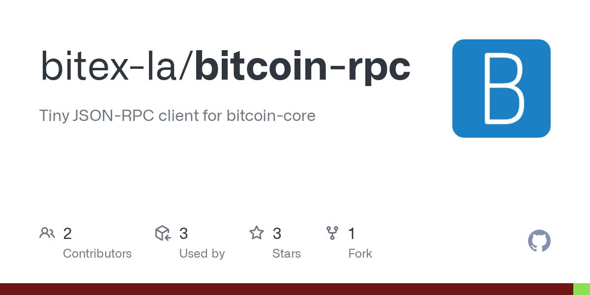bitcoin json rpc