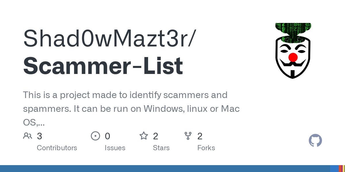 Liste scammer Current 2021