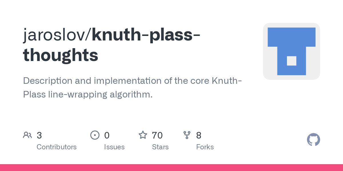 Line-breaking algorithms take a paragraph's-worth of words, and split the words into line-lengthed chunks. The two algorithms many programmer's know o