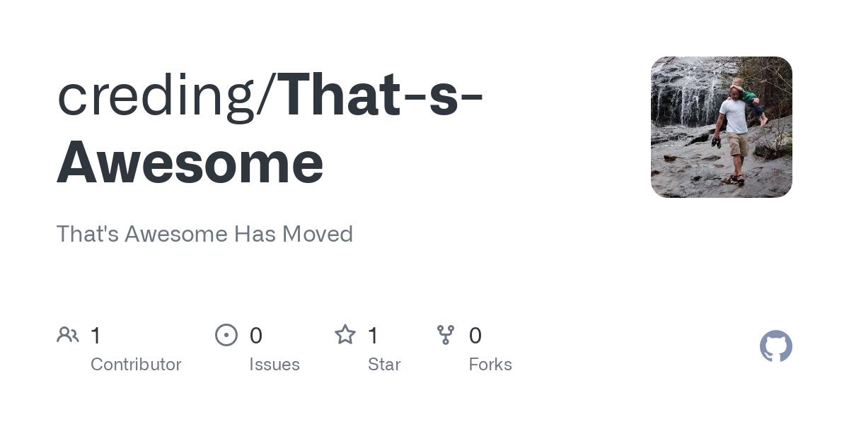 creding/That-s-Awesome - GitHub